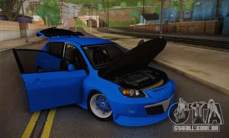 Mazda Speed 3 Tuning para GTA San Andreas vista direita