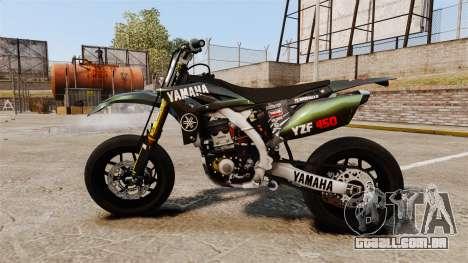 Yamaha YZF-450 v1.7 para GTA 4 esquerda vista