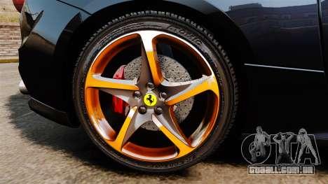 Ferrari FF 2011 para GTA 4 vista de volta