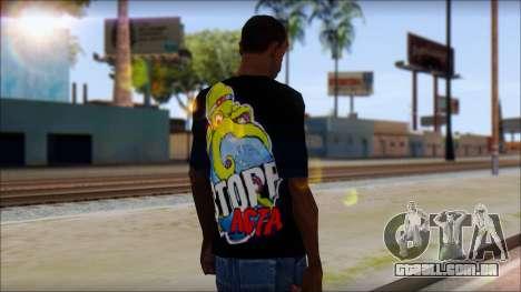 Anti ACTA T-Shirt para GTA San Andreas segunda tela