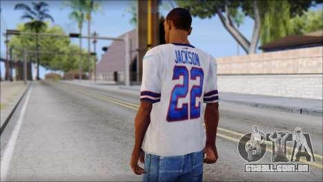 NY Buffalo Bills White para GTA San Andreas segunda tela