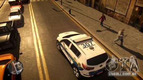 Kia Sportage Israel Police car (Mishtara) para GTA 4 traseira esquerda vista