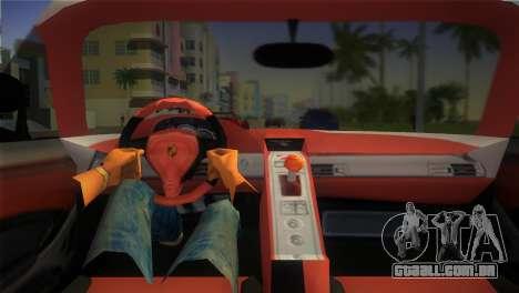 Porsche Carrera GT Police para GTA Vice City vista direita