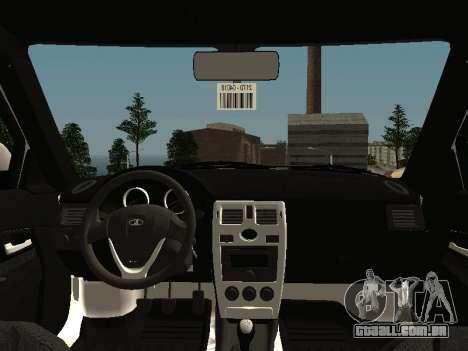 VAZ 2170 para GTA San Andreas vista interior