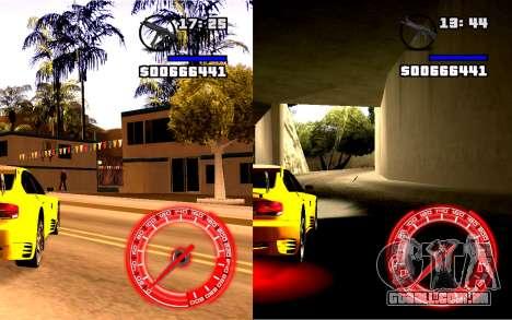 Velocímetro Conceito StyleV4x3 para GTA San Andreas segunda tela