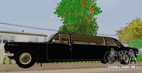 GÁS 24-01 de Limusina para GTA San Andreas esquerda vista