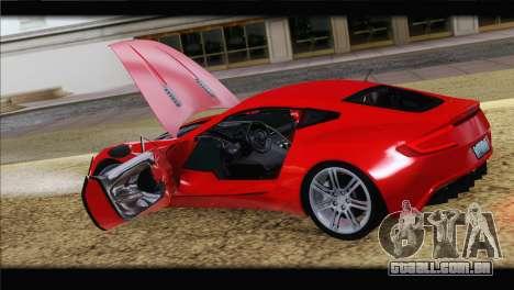 Aston Martin One-77 2010 para o motor de GTA San Andreas