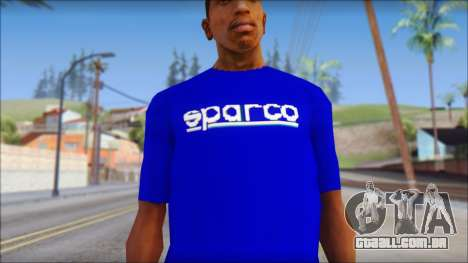 Sparco T-Shirt para GTA San Andreas terceira tela