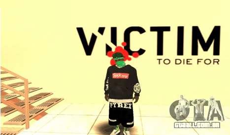 Grove Street Gang Skin pack para GTA San Andreas por diante tela