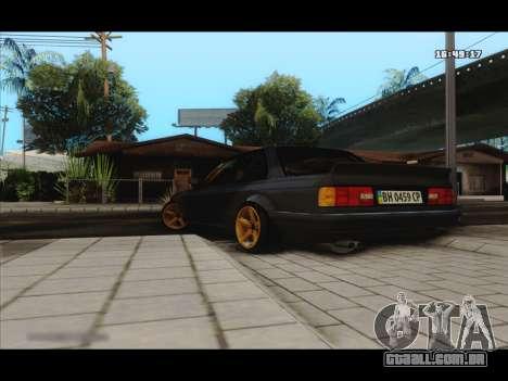 BMW e30 UDC para GTA San Andreas traseira esquerda vista