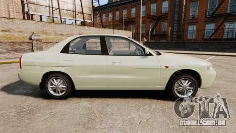 Daewoo Nubira I Sedan CDX PL 1997 para GTA 4 esquerda vista