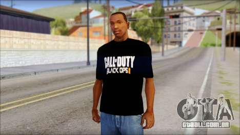 COD Black Ops 2 Fan T-Shirt para GTA San Andreas