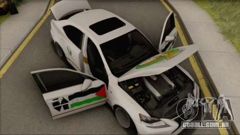 Lexus IS350 FSport 2014 Hellaflush para GTA San Andreas vista traseira