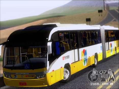 Neobus Mega BRT Volvo B12M-340M para GTA San Andreas esquerda vista