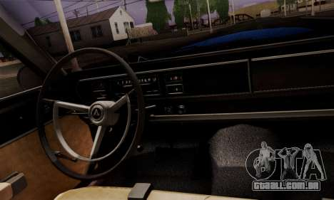 Dodge Coronet 440 Hardtop Coupe (WH23) 1967 para GTA San Andreas vista traseira
