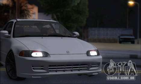 Honda Civic 1995 para GTA San Andreas vista direita