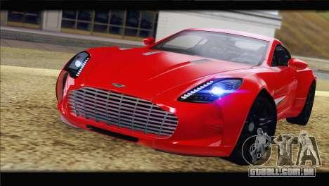 Aston Martin One-77 2010 para GTA San Andreas vista direita