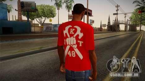 JKT48 Hardcore T-Shirt para GTA San Andreas segunda tela