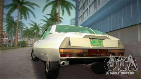 Citroen SM 1972 para GTA Vice City deixou vista