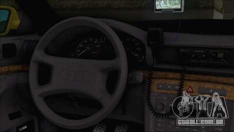 Audi A4 1.9 TDI 2000 Taxi para GTA San Andreas traseira esquerda vista