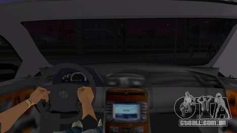 Mercede-Benz CL65 AMG Limousine para GTA Vice City vista traseira esquerda