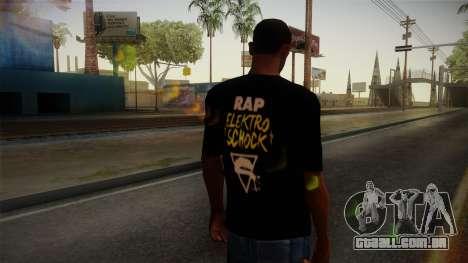 Silla Rap Elektro Schock Shirt para GTA San Andreas segunda tela