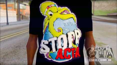 Anti ACTA T-Shirt para GTA San Andreas terceira tela