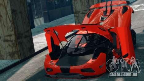Koenigsegg Agera R 2013 para GTA 4 vista de volta