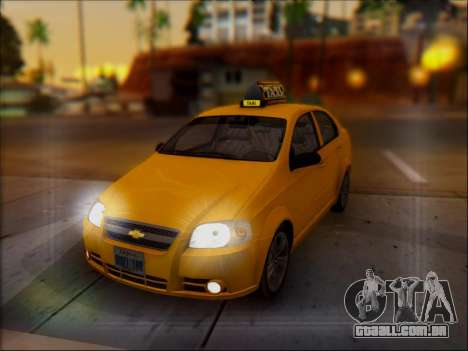 Chevrolet Aveo Taxi para GTA San Andreas vista inferior