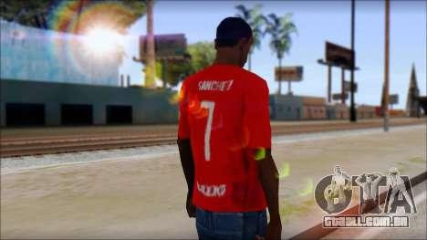 Seleccion Chilena T-Shirt 2010 para GTA San Andreas segunda tela
