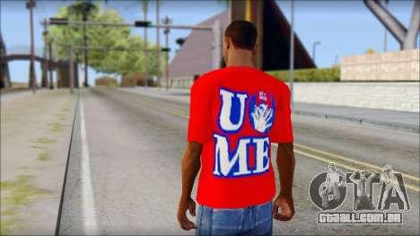 John Cena Red Attire T-Shirt para GTA San Andreas segunda tela