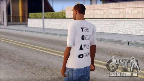 YOLO T-Shirt para GTA San Andreas segunda tela