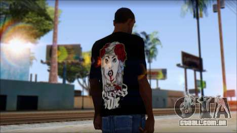 Your Curses Die Fan T-Shirt para GTA San Andreas segunda tela