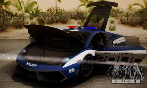 Lamborghini Gallardo LP570-4 2011 Police para GTA San Andreas vista direita