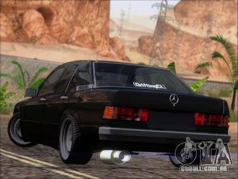 Mercedes Benz 190E Drift V8 para GTA San Andreas traseira esquerda vista