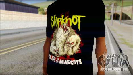 SlipKnoT T-Shirt v5 para GTA San Andreas terceira tela