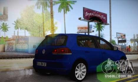 Volkswagen Golf Mk6 2010 para GTA San Andreas esquerda vista