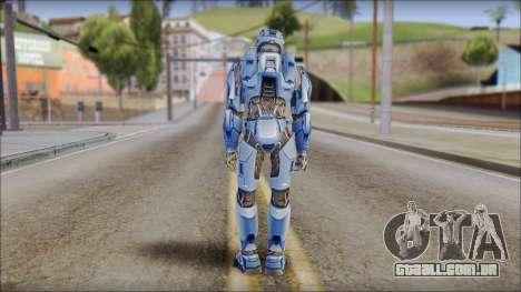 Masterchief Blue from Halo para GTA San Andreas terceira tela