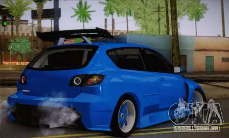 Mazda Speed 3 Tuning para GTA San Andreas esquerda vista