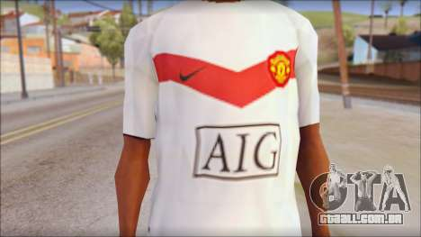 Manchester United Shirt para GTA San Andreas terceira tela