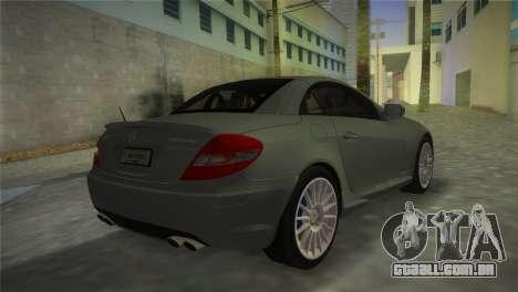 Mercedes-Benz SLK55 AMG para GTA Vice City deixou vista
