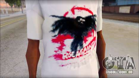 Rise Against T-Shirt V2.1 para GTA San Andreas terceira tela
