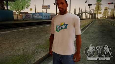 Sprite Shirt White para GTA San Andreas