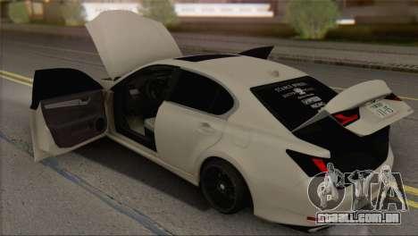 Lexus GS350 para GTA San Andreas vista traseira