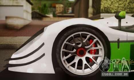Radical SR8 Supersport 2010 para GTA San Andreas traseira esquerda vista