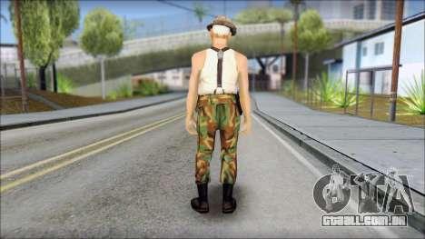 Teniente Armstrong para GTA San Andreas segunda tela