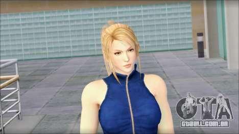 Sarah from Dead or Alive 5 v2 para GTA San Andreas terceira tela