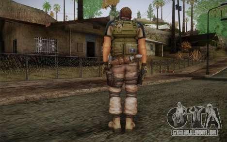 Chris Redfield from Resident Evil 6 para GTA San Andreas segunda tela