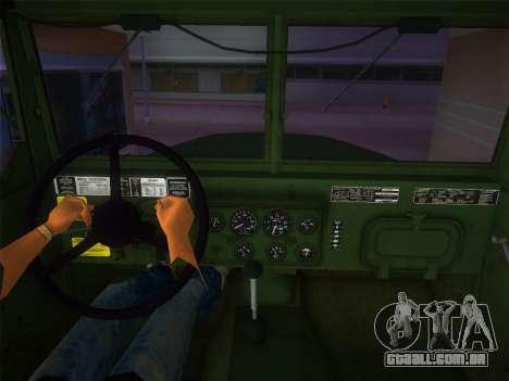 AM General M35A2 1986 para GTA Vice City vista traseira esquerda