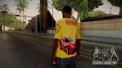 Ferrari T-Shirt para GTA San Andreas segunda tela